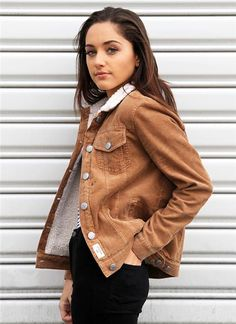 Cord Fur Lined Jacket