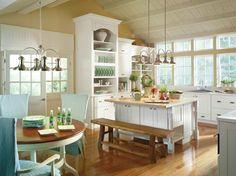 Kenston Laminate White kitchen by Thomasville Cabinetry.