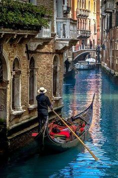A gondola, in Venice, Italy.