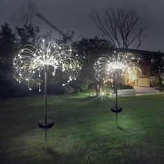 LED solar light eight function modes dandelion lawn lights / grass fireworks lamp /outdoor waterproof solar garden light Solar Lawn Lights, String Lights Outdoor, Solar String Lights, Solar Powered Lights, Led Closet Light, Closet Lighting, Luz Solar, Solar Lamp, Backyard Lighting