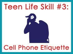 Help your teen learn about what is appropriate and not appropriate when it comes to cell phone etiquette.