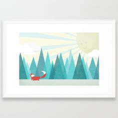 Buy Winter's Over Framed Art Print by zeketucker. Worldwide shipping available at Society6.com. Just one of millions of high quality products available.