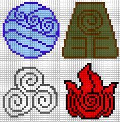 Avatar Elements perler bead pattern