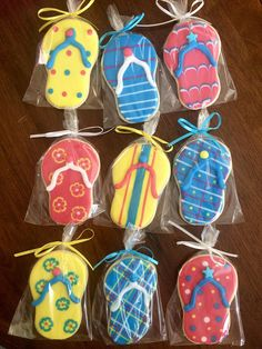 Detailed Flip Flop Cookies perfect party cookies