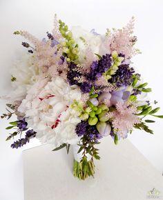 #wedding #bouquet #flowers #peonies #spring #flower #white #green #violet #bukiet #slubny #peonie #wiosna
