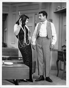 """Wicked City Woman!    Lucille Ball and Ernie Ford in the 1954 """"I Love Lucy"""" episode titled, """"Tennessee Ernie Visits"""""""