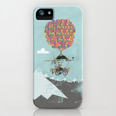 Riding A Bicycle Through The Mountains iPhone & iPod Case by Wyatt Design - $35.00