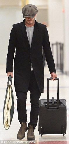 TRAVEL IN STYLE Inspiring | Stylish | Fashion Cues @David Beckham #Menstyle #menstyleblog #imforstyle #travelstylefiles www.imforstyle.com