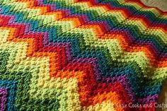 Katie Cooks and Crafts: Rumpled Ripple Rainbow Crochet ...