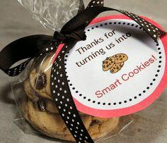 Teacher Appreciation Gift Idea-Smart Cookies  Printable