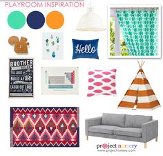 Playroom Inspiration Board - bold and colorful! | Project Nursery
