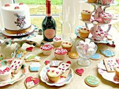 Stunning Mad Hatter's Tea Party - Alice in Wonderland Baby Shower theme. Beautiful!