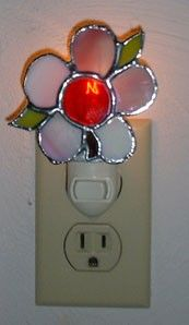 Stained Glass Flower Night Light with FREE by Avalonstainedglass, $29.95