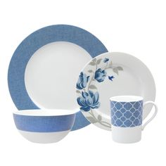 Fanciful Blue Place Setting