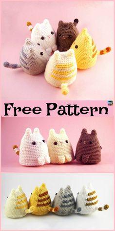 Mesmerizing Crochet an Amigurumi Rabbit Ideas. Lovely Crochet an Amigurumi Rabbit Ideas. Chat Crochet, Crochet Mignon, Crochet Gratis, Crochet Patterns Amigurumi, Crochet Dolls, Crochet Baby, Free Crochet, Knitting Patterns, Blanket Patterns