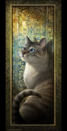 Lackadaisy © 2013 Tracy J. Butler. All rights reserved. Rocky - the cat from whence came the character - done as a Christmas gift for my mother, who was probably even more affected by his loss than I w