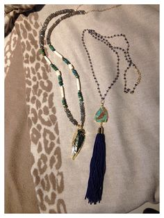 Gold arrowhead & Turquoise Tassel