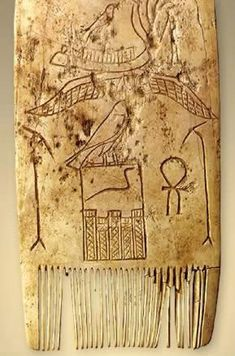An Ivory Comb discovered at Abydos and dating to the 1st Dynasty reign of Djet