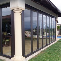Glass Enclosures for balconies & patios – Johannesburg, Durban & surrounds - All About Balcony Pergola With Roof, Outdoor Pergola, Pergola Shade, Patio Roof, Outdoor Decor, Pergola Ideas, Glass Balcony, Glass Roof, Stacking Doors