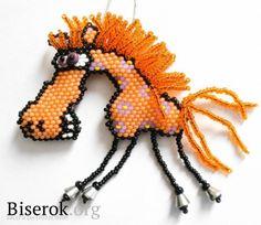 Лошадь символ 2014 года / Брелоки и аксессуары / Biserok.org