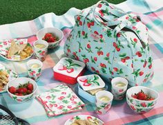 Cath Kidston Strawberry picnic set - perfect for a day trip to the beach or the mountains or really anywhere!