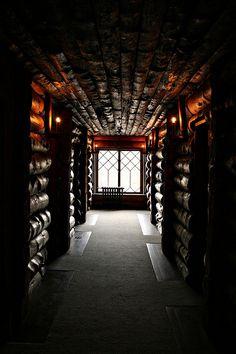Old Faithful Inn hallway by Tiffany Joyce