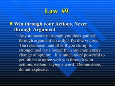 Power of 40 the laws The 48