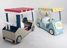 3d paper golf cart box template - Google Search