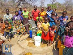 These people no longer have to walk miles to get dirty water thanks to their new clean water well! #W282
