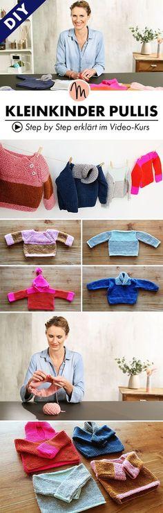 Kinderpullis für die kalten Tage stricken - Step by Step erklärt im Video-Kurs via Makerist.de