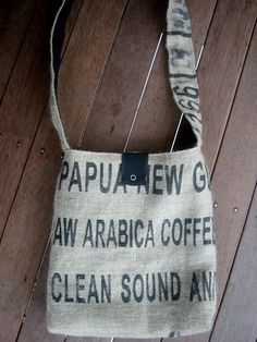 still loving this coffee sack bag I purchased from the lovely local sister duo (wheresbeckybean on Etsy)