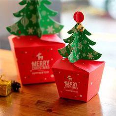 Merry Christmas Candy Box Christmas Tree Gift Box With Bells Paper Box 10 pcs Christmas Tree Pattern, Christmas Tree With Gifts, Christmas Bags, Christmas Candy, Merry Christmas, Christmas Brunch, Christmas Party Favors, Christmas Invitations, Paper Gift Box