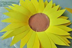 Kids Sunflower Craft – Activity for the letter S | The Romantic Homeschooler