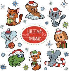 christmas cute animal的圖片搜尋結果
