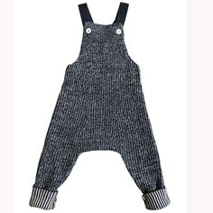 Rhesi Dungarees in Ink/Wheat by Mabli - Junior Edition Long Sleeve Playsuit, Gray Label, Knitted Romper, Capri Blue, White Jumpsuit, Blue Quilts, Dungarees, Kids Fashion, Rompers