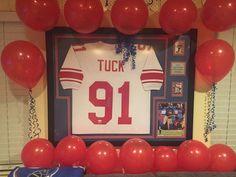 #Giants #JustinTuck framed jersey #jerseyframing #framedjersey