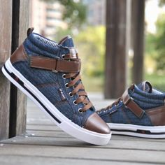 High-top Men Canvas shoes Ox Anti-skidding 2 Men's shoes