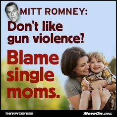 Single mothers unite against Mitt Romney