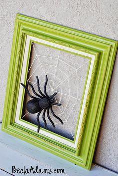 Becki Adams Designs: Halloween Wreath with Tutorial