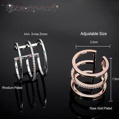 Летний стиль миди палец костяшки кольца 18 К роуз позолоченные AAA циркон кольца для женщин мода преувеличены кольцо изящных ювелирных изделий.