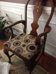 Funky Dining room chair fabric