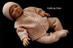 Cheri's Crochet Baby or reborn baby doll clothing or craftsbycheri: Cheri's Crochet Baby or Reborn Doll Sweater Set