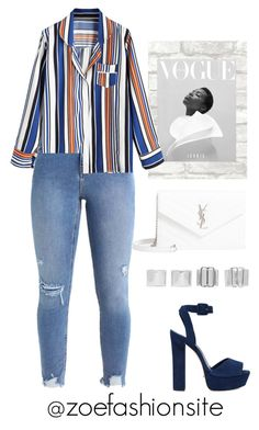 """Untitled #584"" by zoefashionsite ❤ liked on Polyvore featuring Schutz, Yves Saint Laurent and Maison Margiela"