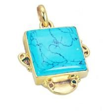 Turquoise Copper fine handcrafted Pendant Turquoise L-2.1in UK gift
