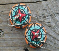 pottery earrings Native American jewelry turquoisemine