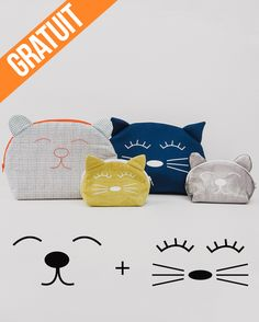 Modèle d& Mia - gratuit - Tutos couture - Cat Pattern, Free Pattern, Sewing Tutorials, Sewing Projects, Couture Sewing, Sewing Toys, Diy Dress, Fabric, Dimensions