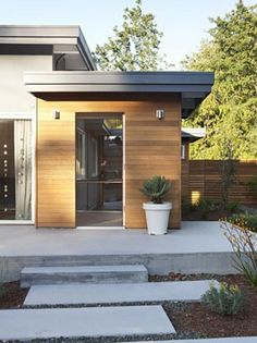Best Magnificent Wood Siding Vogue Portland Midcentury Entry 640 x 480