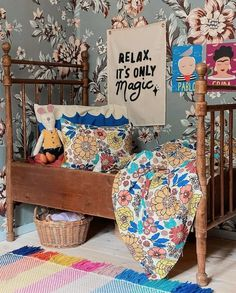 Floral printed bedding organic cotton Duvet Cover picture by @boho.wife - Delilah reversible – Moozle Best kids bedding