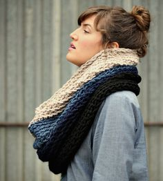 Ombré Cowl Neck Scarf - Indigo | Women's Bags & Accessories | Victory Garden Yarn | Scoutmob Shoppe | Product Detail