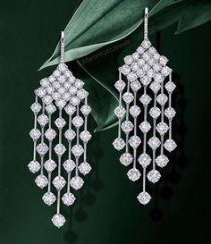 The Gryphon's Nest — Diamond Chandelier Earrings by M.Katz